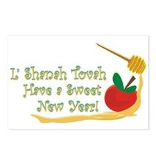L Shanah Tovah Postcards (Package of 8)