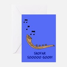 Shofar Funny Jewish New Year Card Greeting Cards (