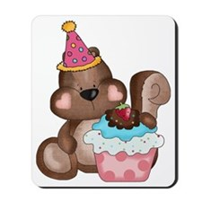 cute birthday party squirrel Mousepad