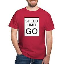 Speed Limit Go T-Shirt (dark)