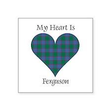 "Heart - Ferguson Square Sticker 3"" x 3"""