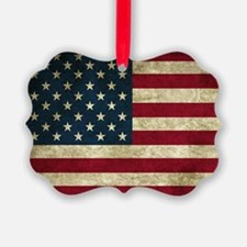 American Flag Picture Ornament