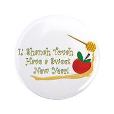 "L Shanah Tovah 3.5"" Button (100 pack)"