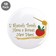 "L Shanah Tovah 3.5"" Button (10 pack)"