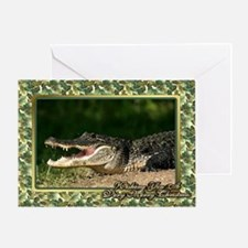 Alligator Christmas Card Greeting Card