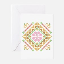 Floral Diamond Greeting Cards (Pk of 10)
