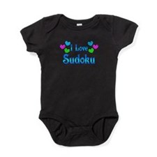 I Love Sudoku Baby Bodysuit