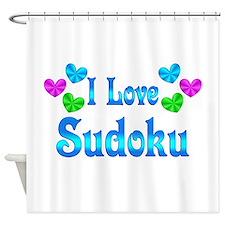 I Love Sudoku Shower Curtain