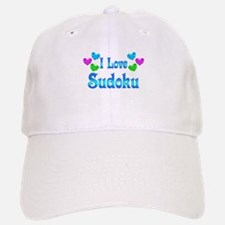 I Love Sudoku Baseball Baseball Cap