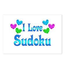 I Love Sudoku Postcards (Package of 8)