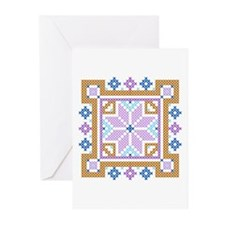 Floral Square Greeting Cards (Pk of 10)