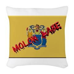 New Jersey Molon Labe Woven Throw Pillow
