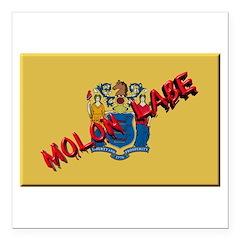 New Jersey Molon Labe Square Car Magnet 3