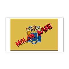 New Jersey Molon Labe Rectangle Car Magnet