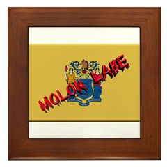 New Jersey Molon Labe Framed Tile