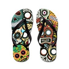 Day of the Dead Flip Flops