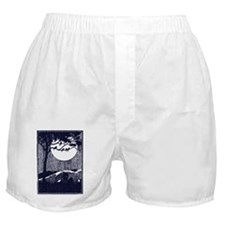 Birds in a Tree by the Full Moon Boxer Shorts