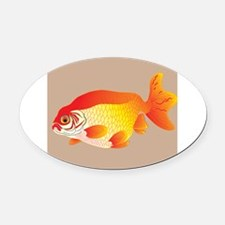 Decorative - Decoration - Goldfish Oval Car Magnet
