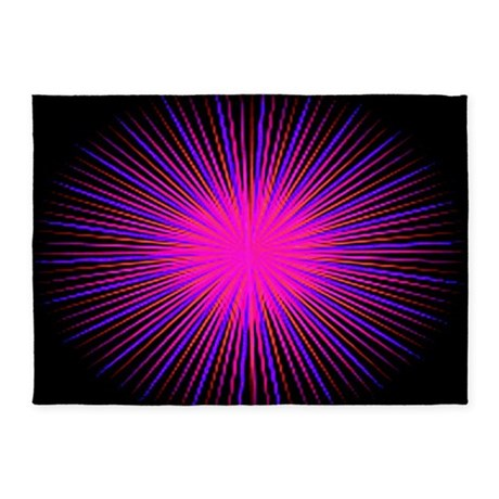 Pink Spirit Circle 5'x7'Area Rug