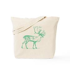 Green Caribou Tote Bag