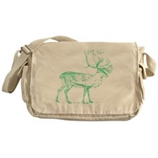 Green Caribou Messenger Bag