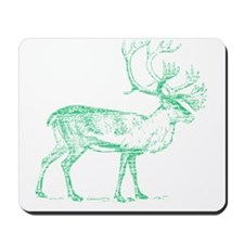 Green Caribou Mousepad