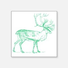 "Green Caribou Square Sticker 3"" x 3"""