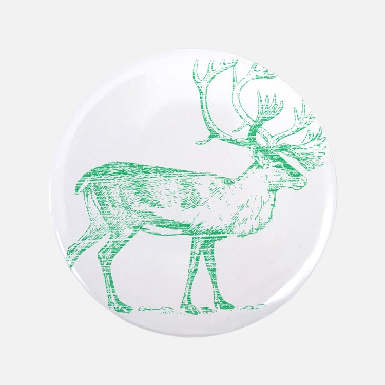 "Green Caribou 3.5"" Button"