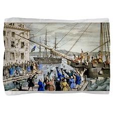 Destruction of tea at Boston Harbor - 1846 Pillow