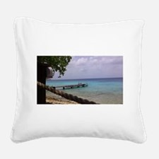 Nice view Curacao pelikan Square Canvas Pillow