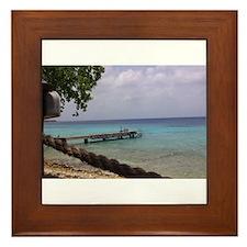 Nice view Curacao pelikan Framed Tile