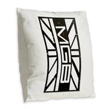 MGB Burlap Throw Pillow