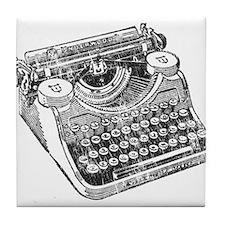 Vintage Underwood Typewriter Tile Coaster