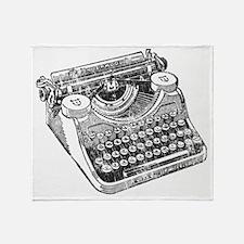 Vintage Underwood Typewriter Throw Blanket