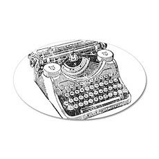 Vintage Underwood Typewriter Wall Decal