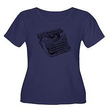 Vintage Underwood Typewriter Plus Size T-Shirt