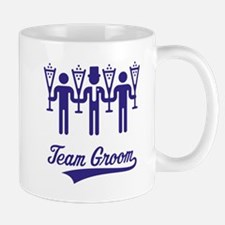Team Groom (Bachelor Party / Stag Night) Blue Small Mugs