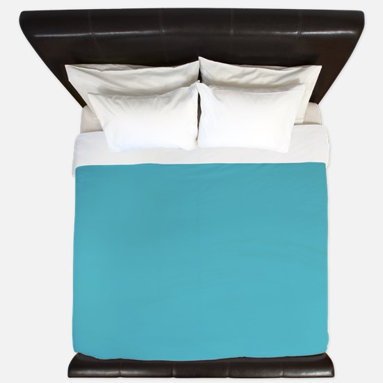 Stripes on Aqua King Duvet