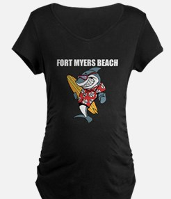 Fort Myers Beach Maternity T-Shirt