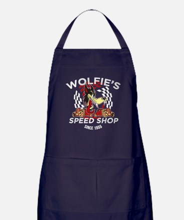 Wolfies Speed Shop Black Apron (dark)