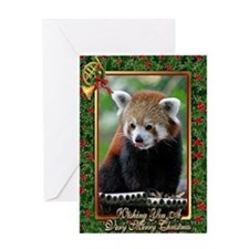 Red Panda Christmas Card Greeting Card