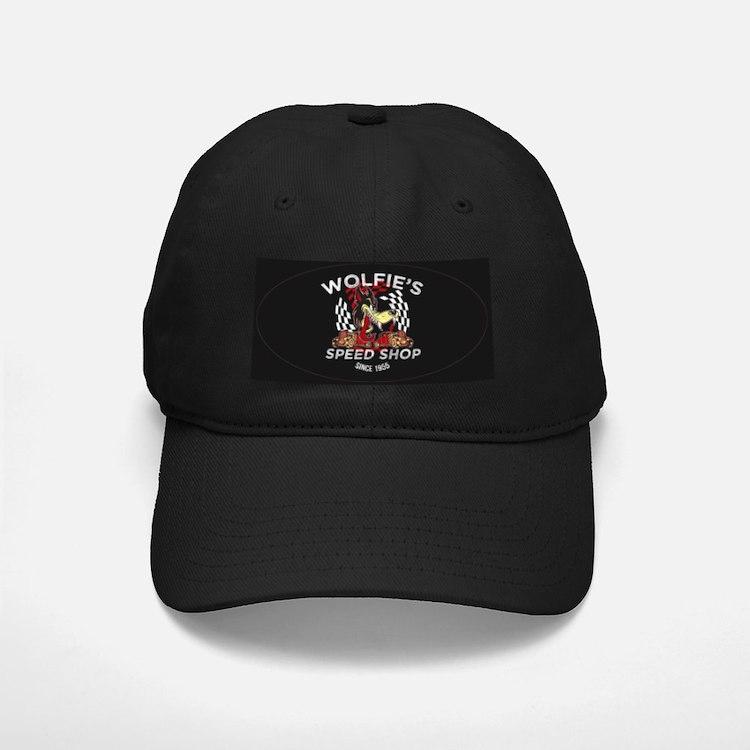 Wolfies Speed Shop Black Baseball Hat