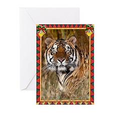 Tiger Christmas Card Greeting Cards (Pk of 20)