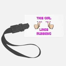 This Girl Likes Running Luggage Tag