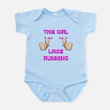 This Girl Likes Running Infant Bodysuit