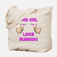 This Girl Likes Running Tote Bag
