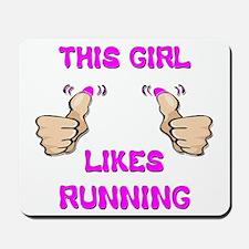 This Girl Likes Running Mousepad
