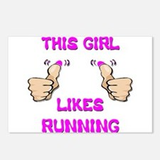 This Girl Likes Running Postcards (Package of 8)
