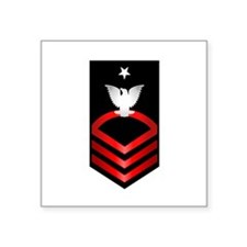 "Navy Senior Chief Petty Officer Square Sticker 3"""