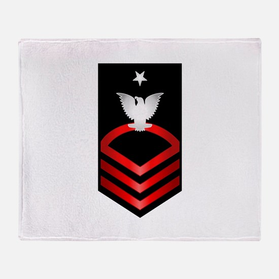 Navy Senior Chief Petty Officer Throw Blanket
